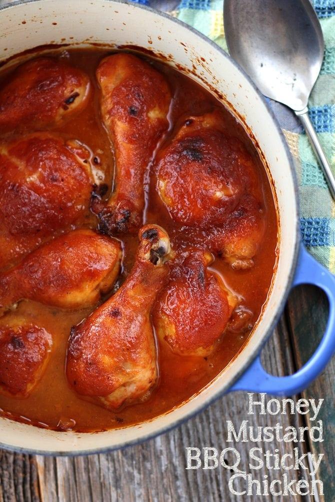 Honey Mustard BBQ Sticky Chicken