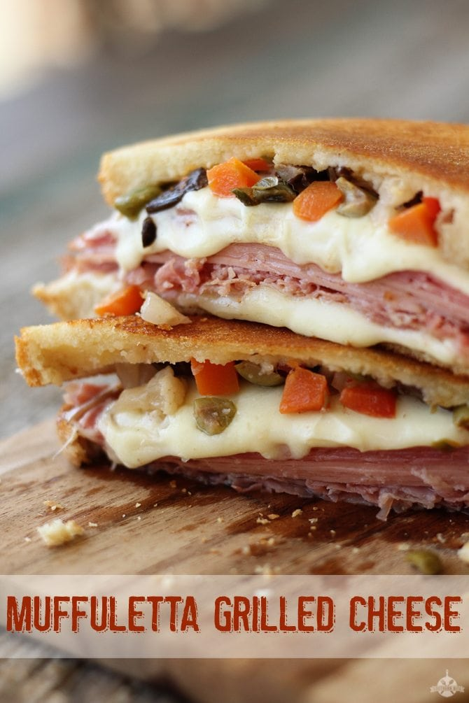 Muffuletta Grilled Cheese - Southern Bite