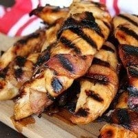 Bacon Wrapped Teriyaki Chicken Tenders