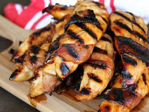 Bacon Wrapped Teriyaki Grilled Chicken Tenders