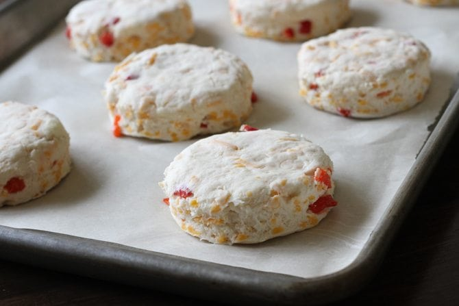 Unbaked Pimento Cheese Biscuits
