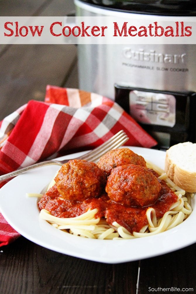 Slow Cooker Meatballs - Southern Bite