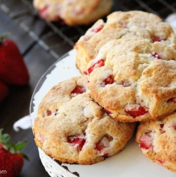 Strawberries and Cream Biscuits and the Biscuits Cookbook