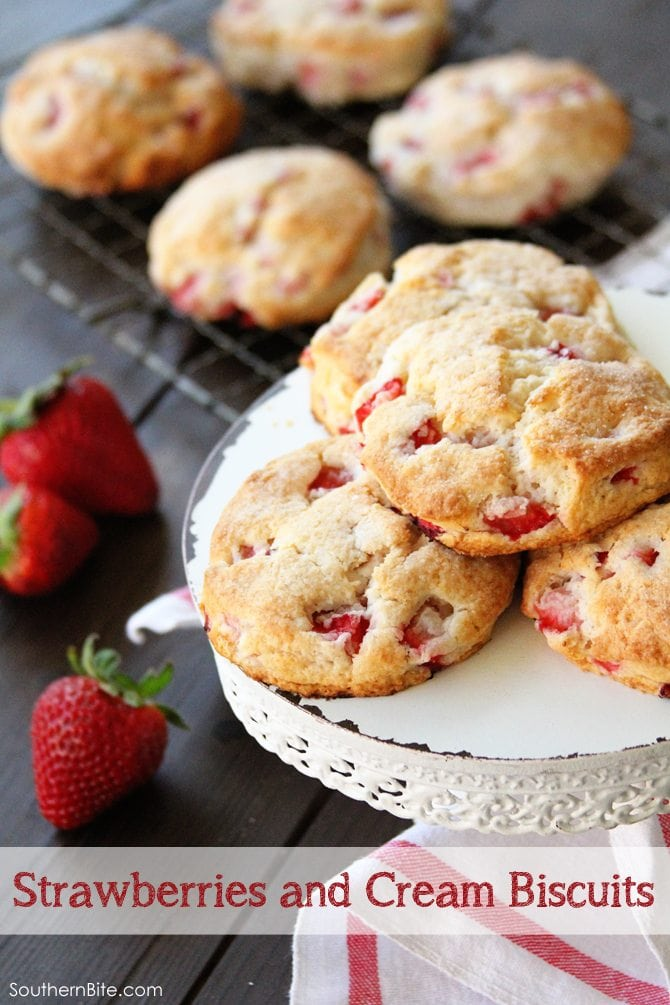 Strawberries and Cream Biscuits and the Biscuits Cookbook - Southern ...