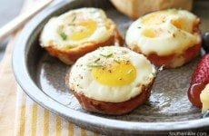 Baked Ham & Pimento Cheese Egg Cups