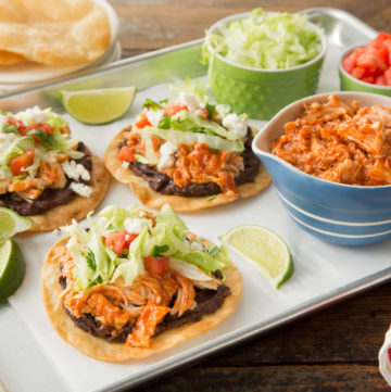 BBQ Chicken Tostadas and July 4th Giveaway