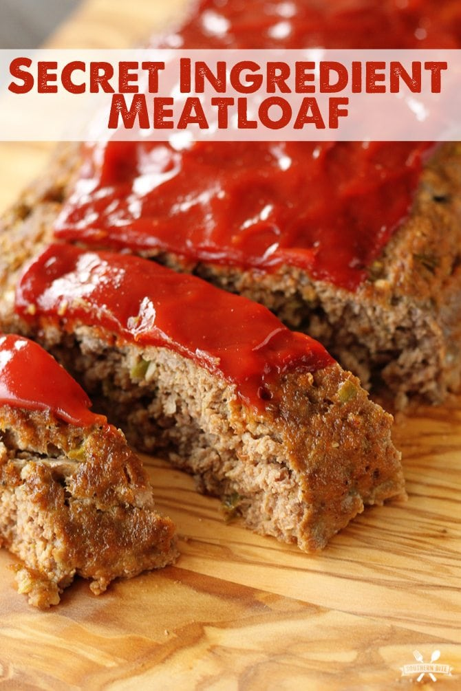 The secret ingredient in this Secret Ingredient meatloaf makes this one of the most flavorful meatloaves you'll eat!