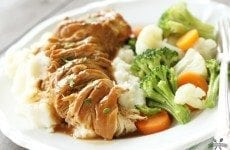 This Slow Cooker Chicken and Gravy couldn't get any easier and it's SO good!