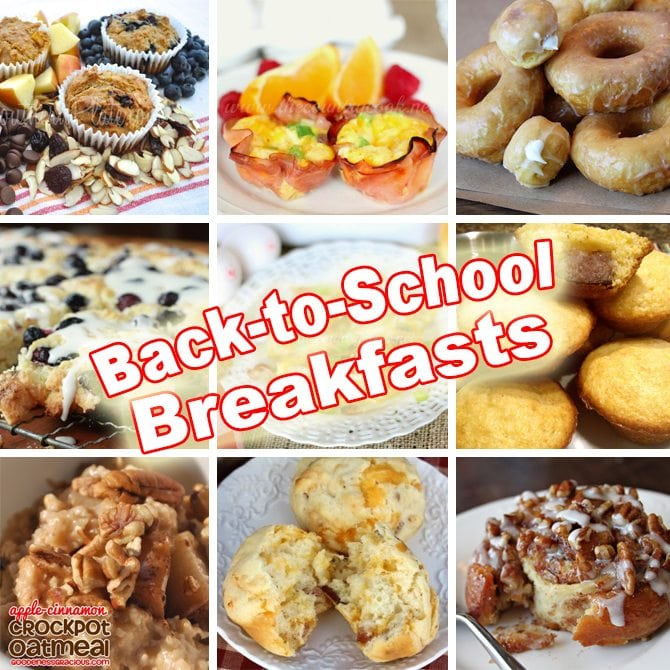Great ideas for easy back-to-school breakfasts!