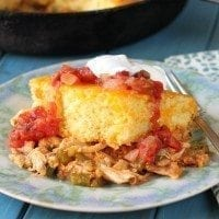 This one-pot Chicken Tamale Pie is an instant family favorite and it's SO easy!