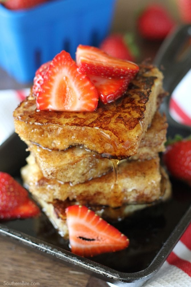Cornbread French Toast - Turn the Southern staple into a delcious breakfast!