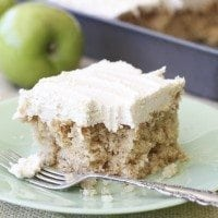Apple Cake with Brown Sugar Icing