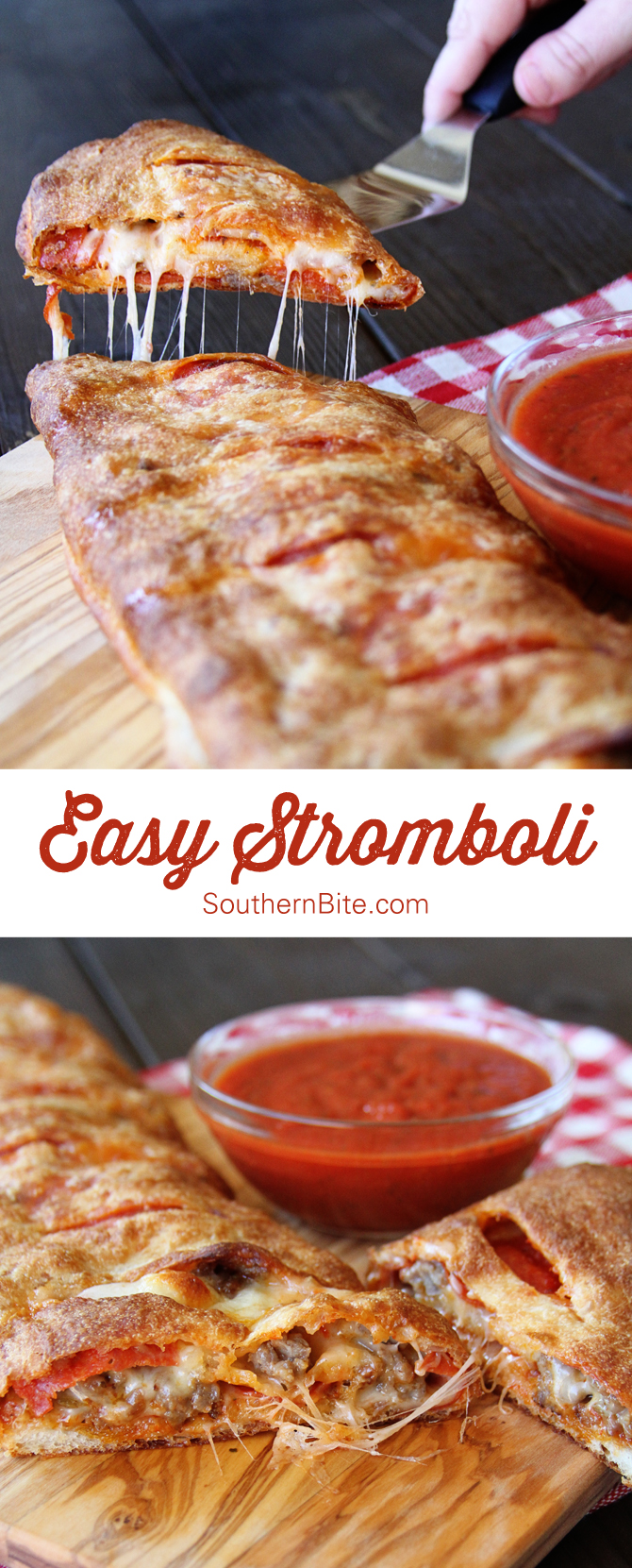 This Quick and Easy Stromboli is a family favorite!  It's super easy and can be customized with your favorite toppings!