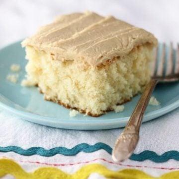 Easy Caramel Sheet Cake