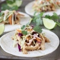 Slow Cooker Asian Chicken Tacos