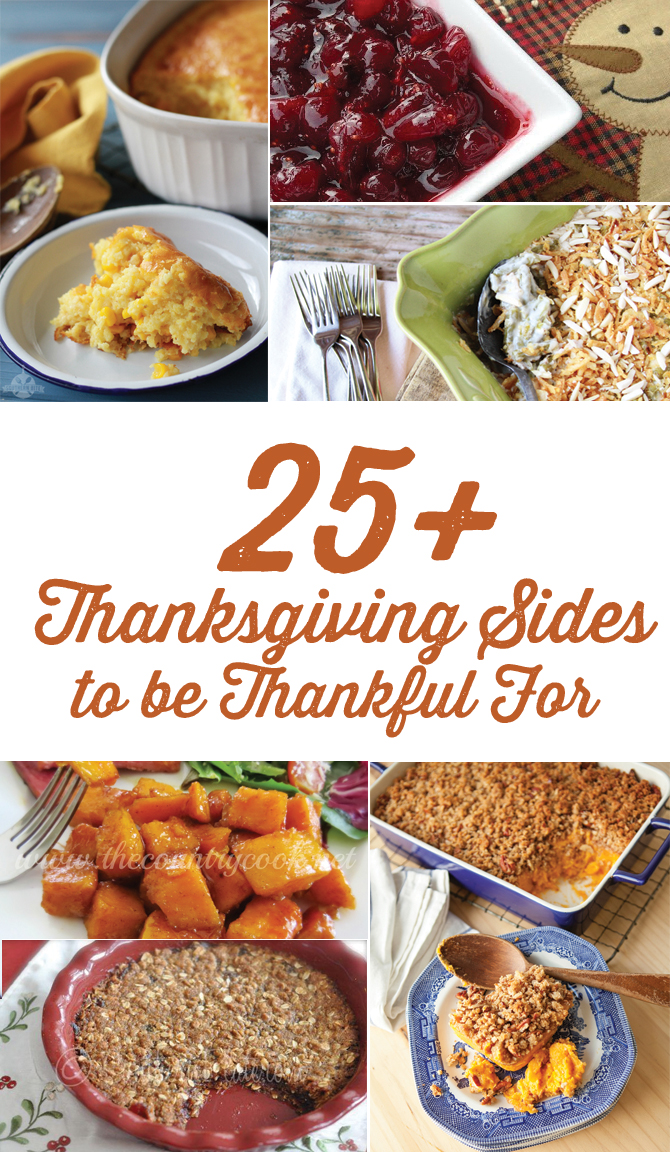 More than 25 side dish recipes perfect for your Thanksgiving menu!