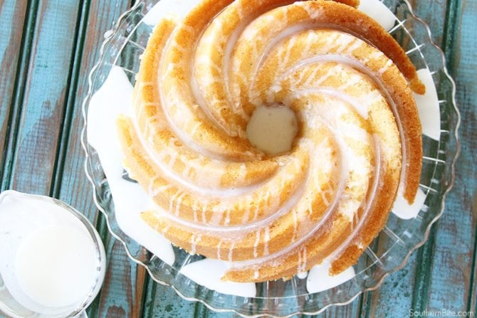 Eggnog Pound Cake - overhead
