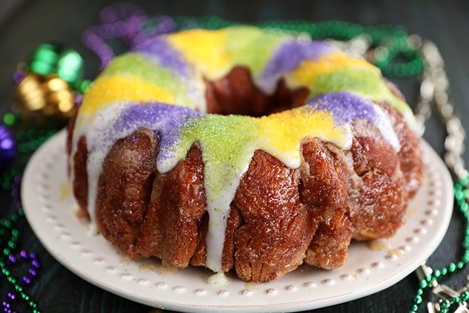 King Cake Pull Apart top view