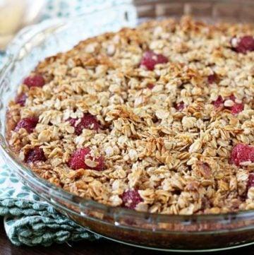 Raspberry Baked Oatmeal