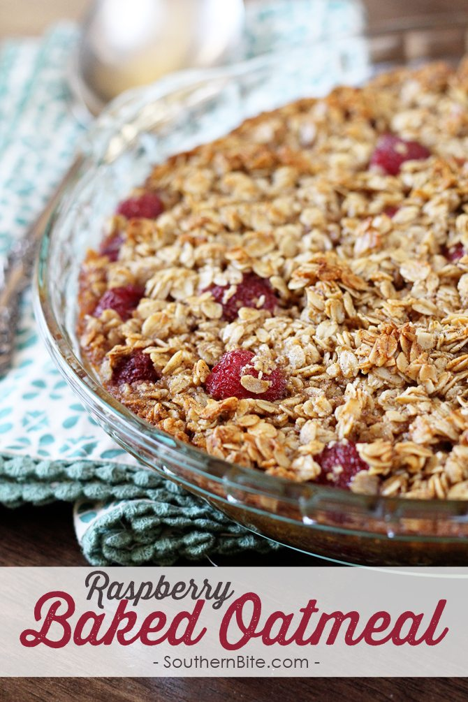 Switch up the boring breakfast routine with this amazing Raspberry Baked Oatmeal recipe! It has all the great flavor of granola and you can add your favorite berries to suit your taste!