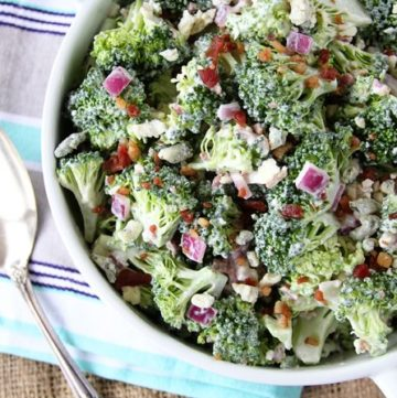 Bacon and Blue Broccoli Salad