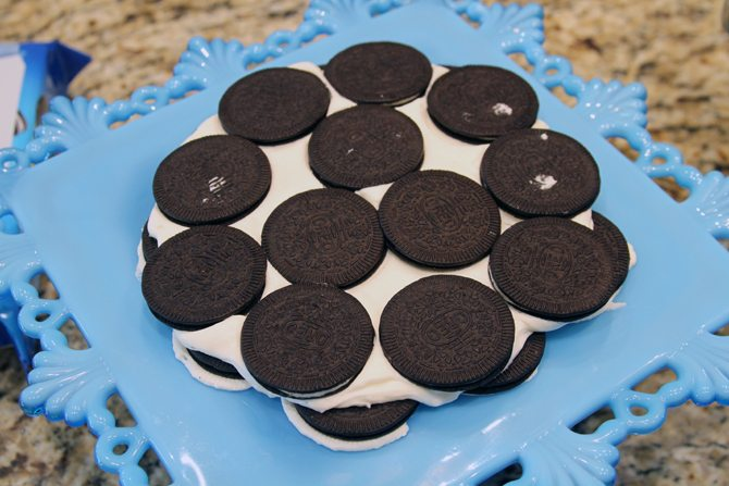 Oreo Thins makes this Icebox Cake recipe super easy and super delicious! My family went crazy over this dessert!