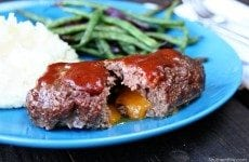 Grilled BBQ Mini-Meatloaf