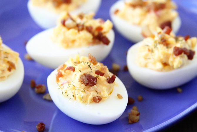Pimiento Cheese Deviled Eggs