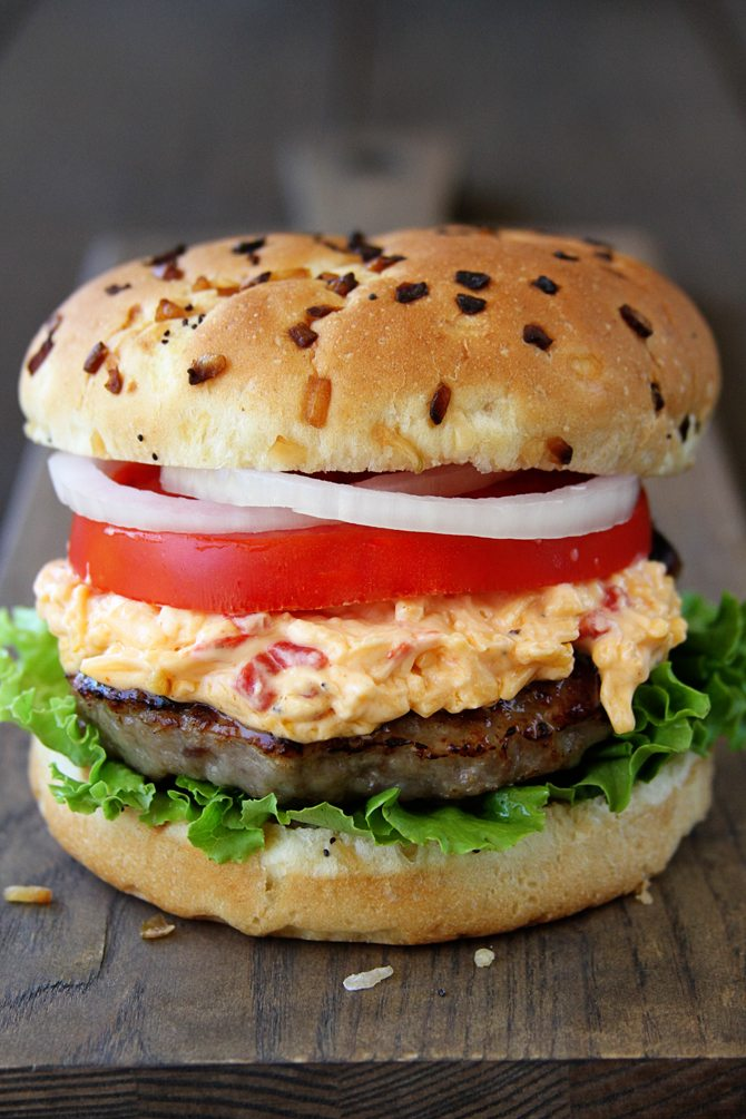 elebrate National Burger Day with these Pimento Cheese Brat Burgers!