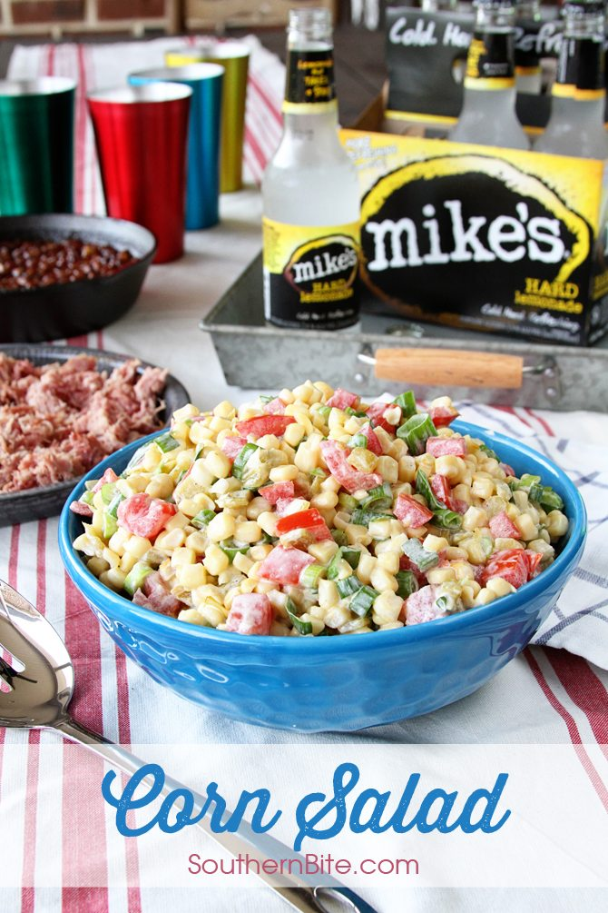 This amazingly easy Corn Salad is the perfect side for your summer BBQ and since it's made with canned corn, you can enjoy it year round!