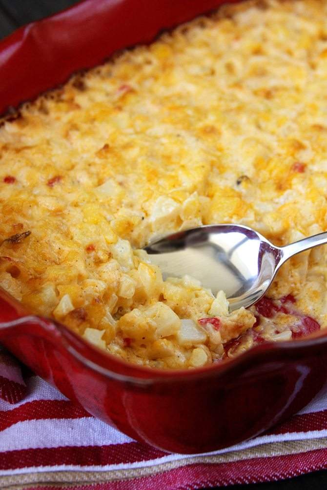 You won't believe how easy these Pimiento Cheese Scalloped Potatoes are! You'll never make this cheesy perfection any other way again!