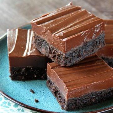 Fudge Iced Brownies