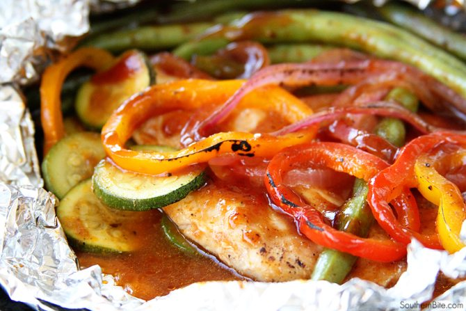 These BBQ Chicken Packets are perfect for a busy weeknight and can be made with any of your favorite veggies!