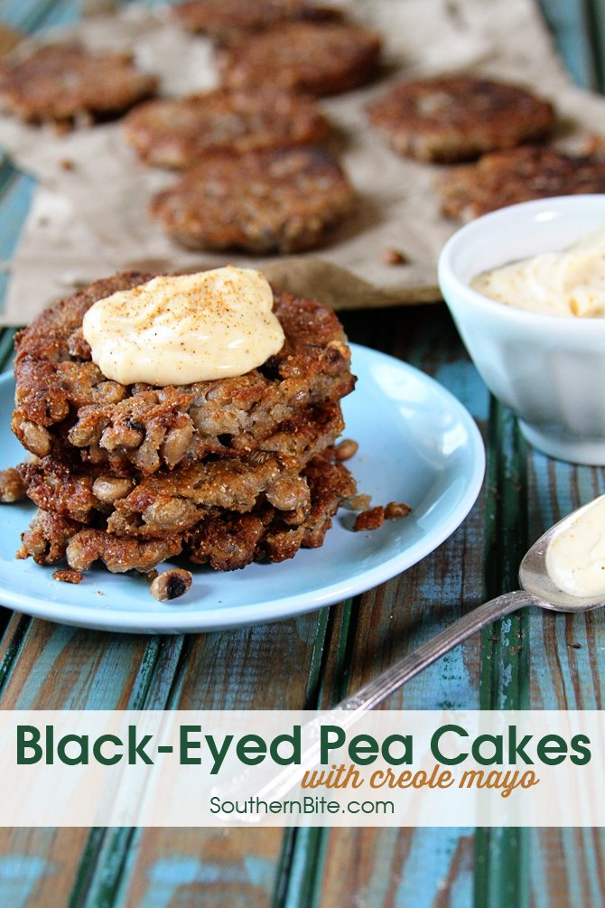 These Black-Eyed Pea Cakes with Creole Mayo are an amazing side to nearly anything. They're just packed with flavor!
