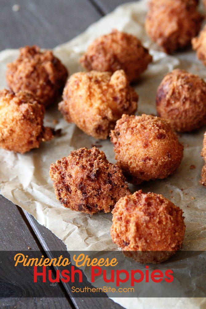 These Pimiento Cheese Hush Puppies need to be on your MUST MAKE list! The tangy pimiento and gooey cheese take the ordinary to extraordinary!