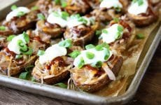 Pulled Pork Stuffed Potato Skins