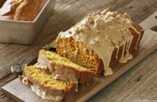 The Praline Sauce on this Pumpkin bread puts it over the top!