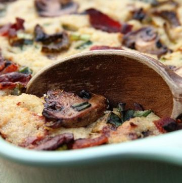 Bacon Mushroom Cornbread Dressing and Being Kind