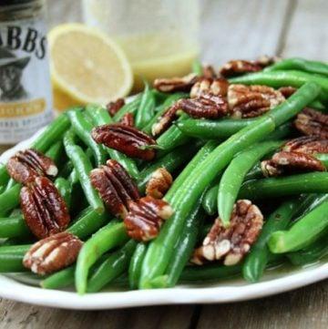 Green Beans with Pecan Vinaigrette