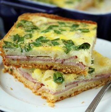 Simple Ham and Swiss Brunch Bake