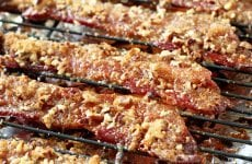 You're only 3 ingredients and about 30 minutes away from Praline Bacon deliciousness!