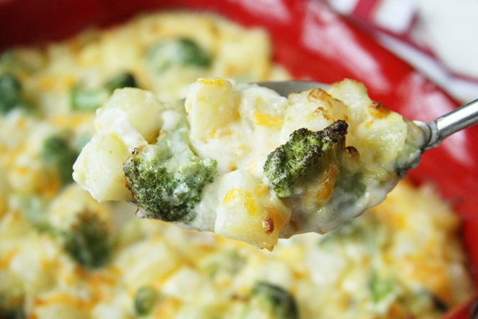This Scalloped Potatoes with Broccoli recipe is simplified by using Simply Potatoes!