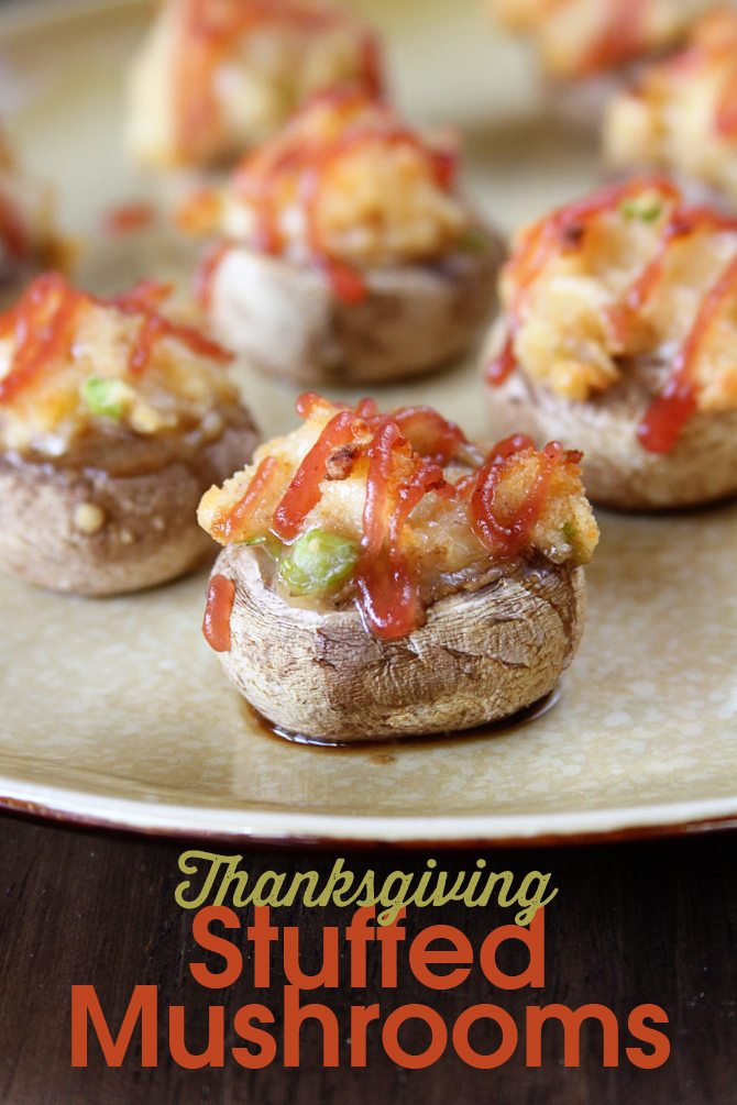 Turn those Thanksgiving leftovers into these Amazing Stuffed Mushrooms!