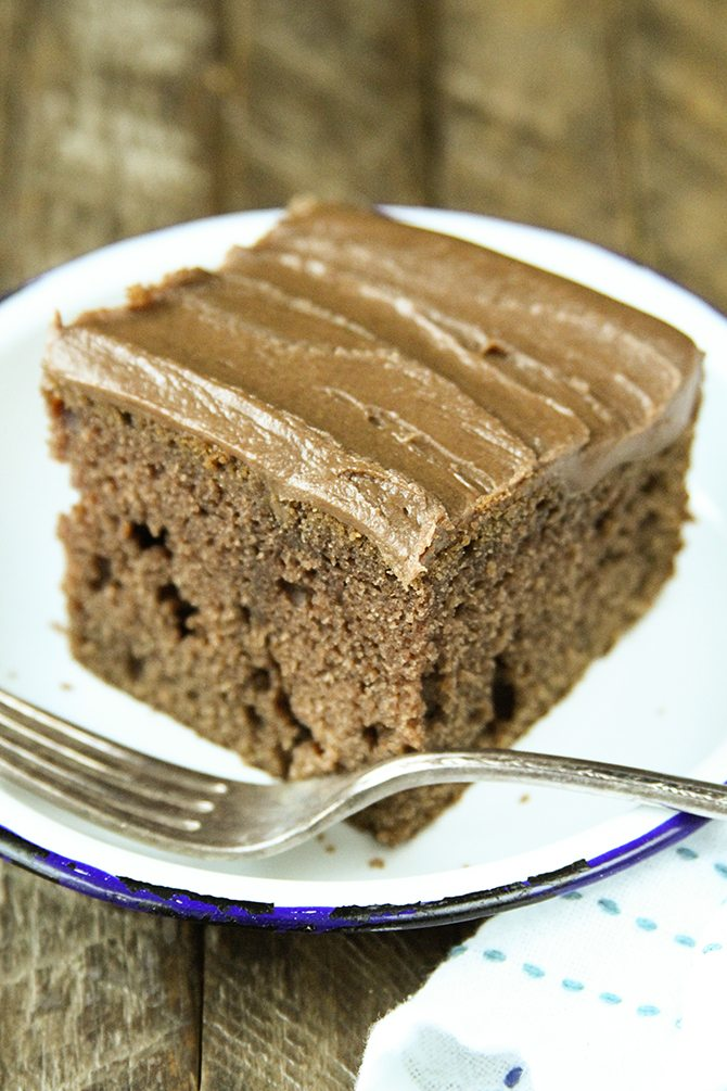 You won't find a more buttery, dense, delicious chocolate cake recipe than this Buttermilk Chocolate Cake!