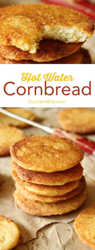 This Hot Water Cornbread recipe only calls for 2 ingredients and is the perfect complement to nearly any meal!