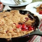 You're only 4 ingredients aways from some of the best Skillet Cherry Cobbler ever! This recipe is SO easy!