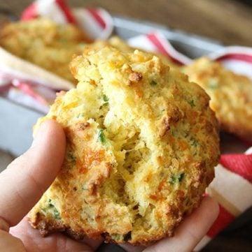 Cheddar Jalapeño Cornbread Drop Biscuits