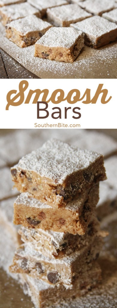 These no-bake Smoosh Bars are the perfect easy snack and dessert! Smoosh the ingredients in the pan and chill, and you've got a sweet treat your kids will love!