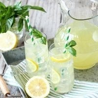 The refreshing flavors of lemon and basil just collided in your new favorite summer beverage!
