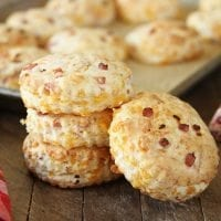 These Ham and Cheddar Biscuits are sure to be a favorite whether they end up being breakfast, lunch, dinner, or brunch!